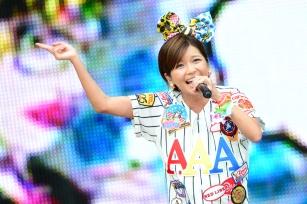 Misako Uno of AAA performing at a-nation Stadium Festival, Nagai Stadium [Osaka, Japan] 08/25/2013