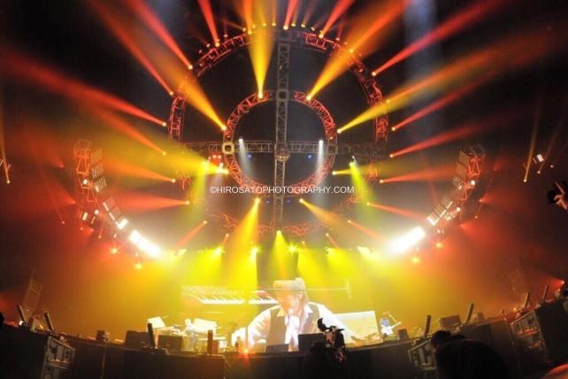 "Yokohama, Japan - March 31: J-POP group TM NETWORK performs during ""TM NETWORK 30th FINAL"" at Yokohama Arena on March 31, 2015 in Yokohama, Japan.(Photo by Hiro Sato)"