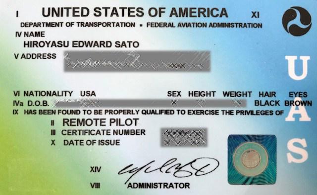FAA Part 107 LicenseDrone Pilot
